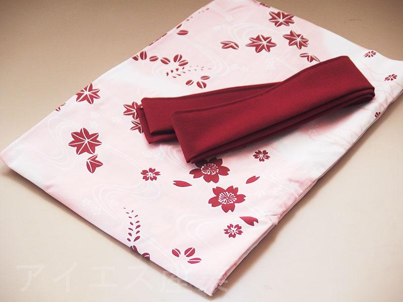 日本製 女性用 旅館浴衣 花かすみ柄
