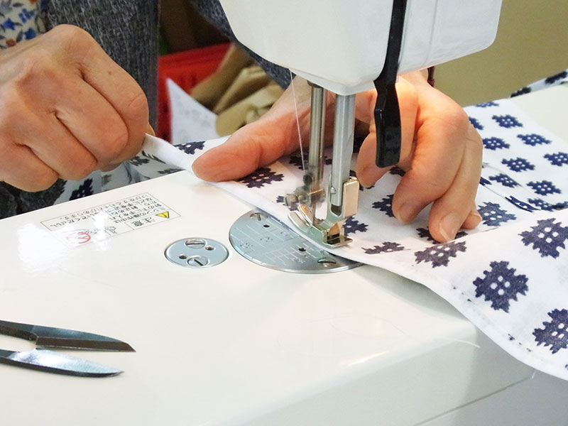 旅館浴衣の縫製