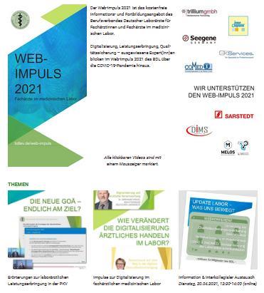 Web-Impuls 2021 - Information & Fortbildung für Fachärzte im Labor