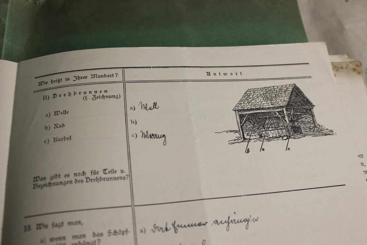 """Ergebnisse der Fragebögen gingen v.a. in das """"Mecklenburgische Wörterbuch"""" ein."""