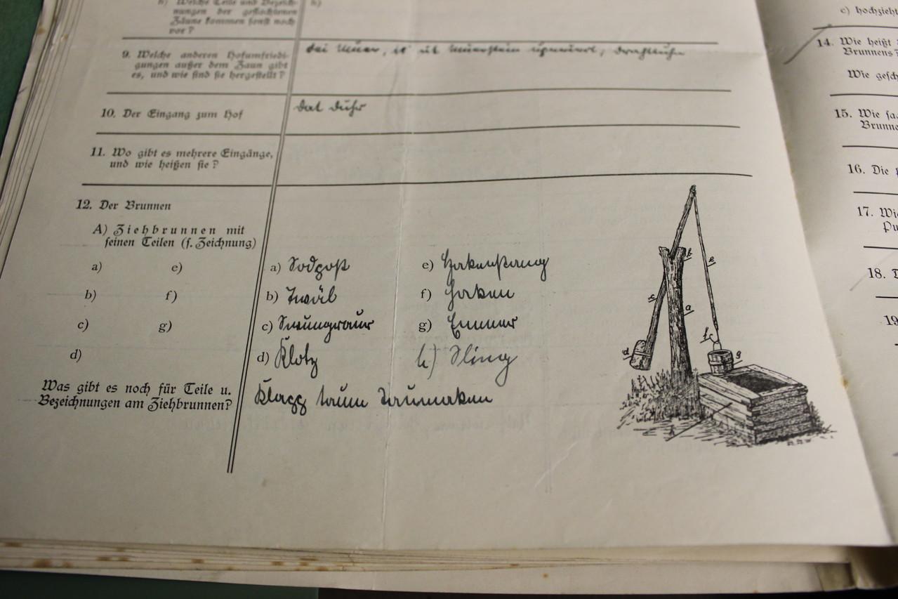 Ein weiteres Beispiel eines Fragebogens. Häufig wurden auch Zeichnungen geliefert.