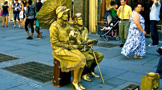 живые скульптуры на улицах прекрасной Вены