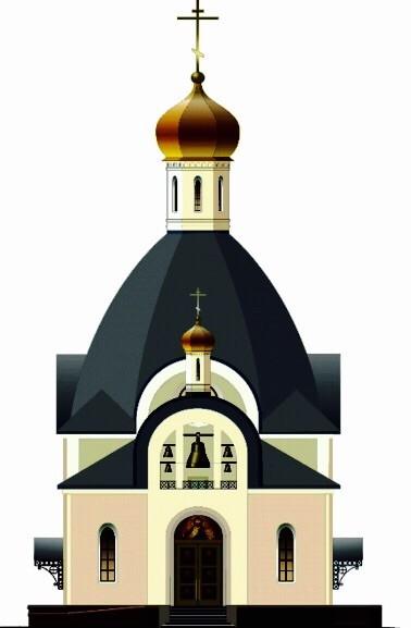 Один из вариантов будущего православного храма в городе Хевиз