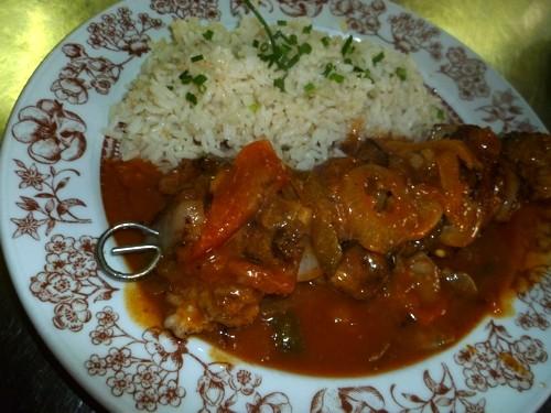 Zigeuner-Spieß mit Reis