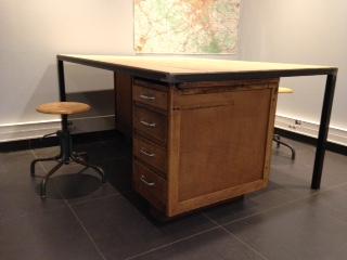 Superbe bureau style industriel rg bu giani desmet meubles