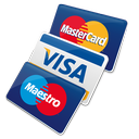 Credit cards (Mastercard, Visa, Maestro and Pagobancomat)