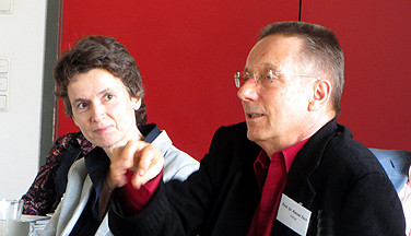 Ina Bielenberg und Professor Dr. Rainer Zech von ArtSet