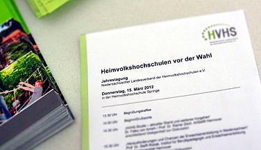 Viel auf dem Zettel: Das Programm zur Jahrestagung 2012.