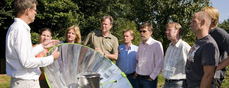 Seminar unter freiem Himmel in der Heimvolkshochschule in Cloppenburg