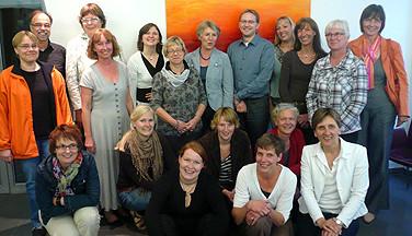 Teilnehmerinnen und Teilnehmer des nifbe-Projektes in der HVHS.