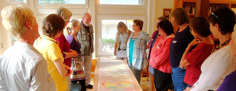 Seminargruppe des Literatur-Kunst-Workshops