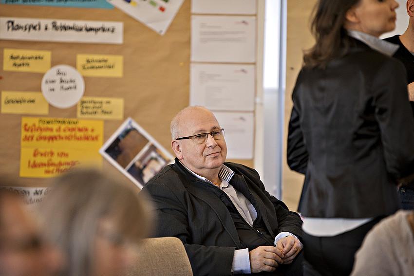 Völlig entspannt: Dietrich Burggraf, Leiter der HVHS Hustedt.