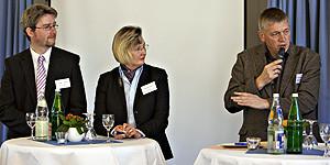 Dirk Lüerßen, Claudia Beckert und Dr. Thomas Südbeck
