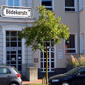 Eingang zur Geschäftsstelle - Bödekerstr. 16