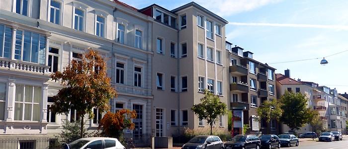 Die Geschäftsstelle des Landesvebandes der Heimvolkshochschulen in der Bödekerstraße in Hannover
