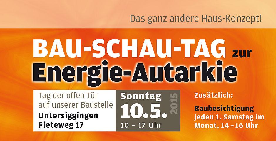 Banner Bau-Schau-Tag 10.05.2015 Untersiggingen 1A Solar GmbH