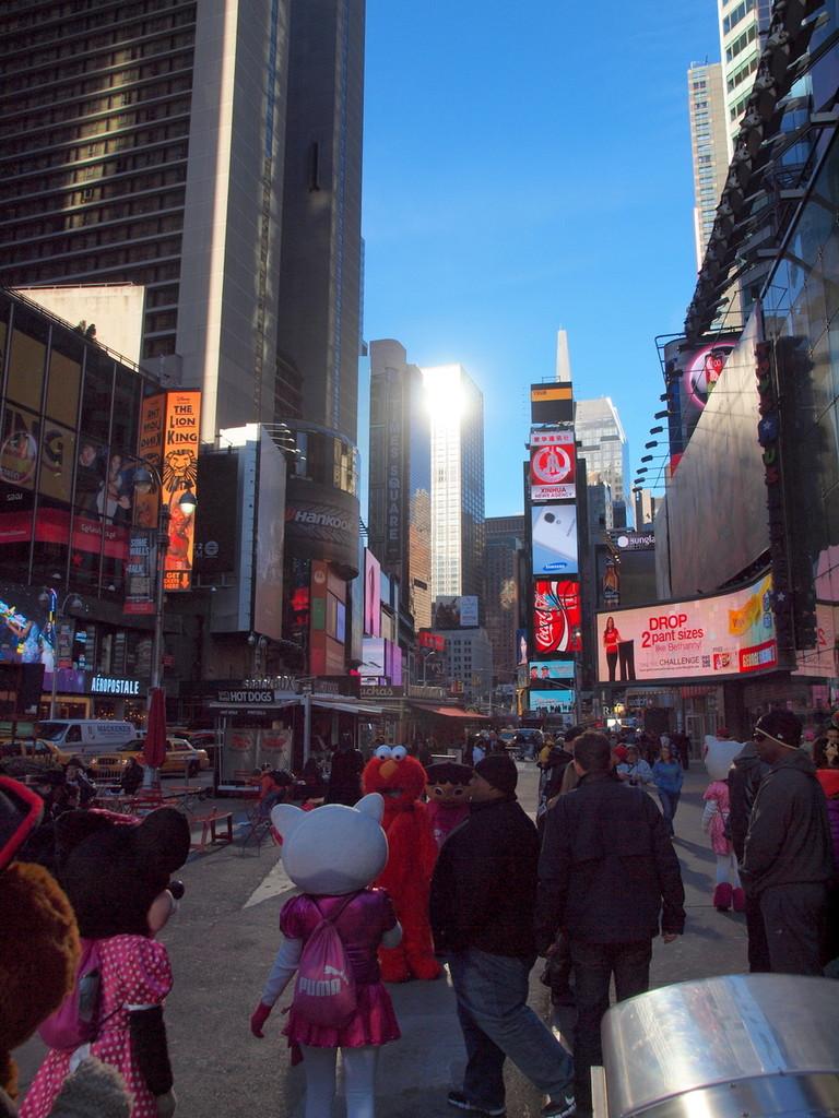 Times Square mit Kuscheltieren