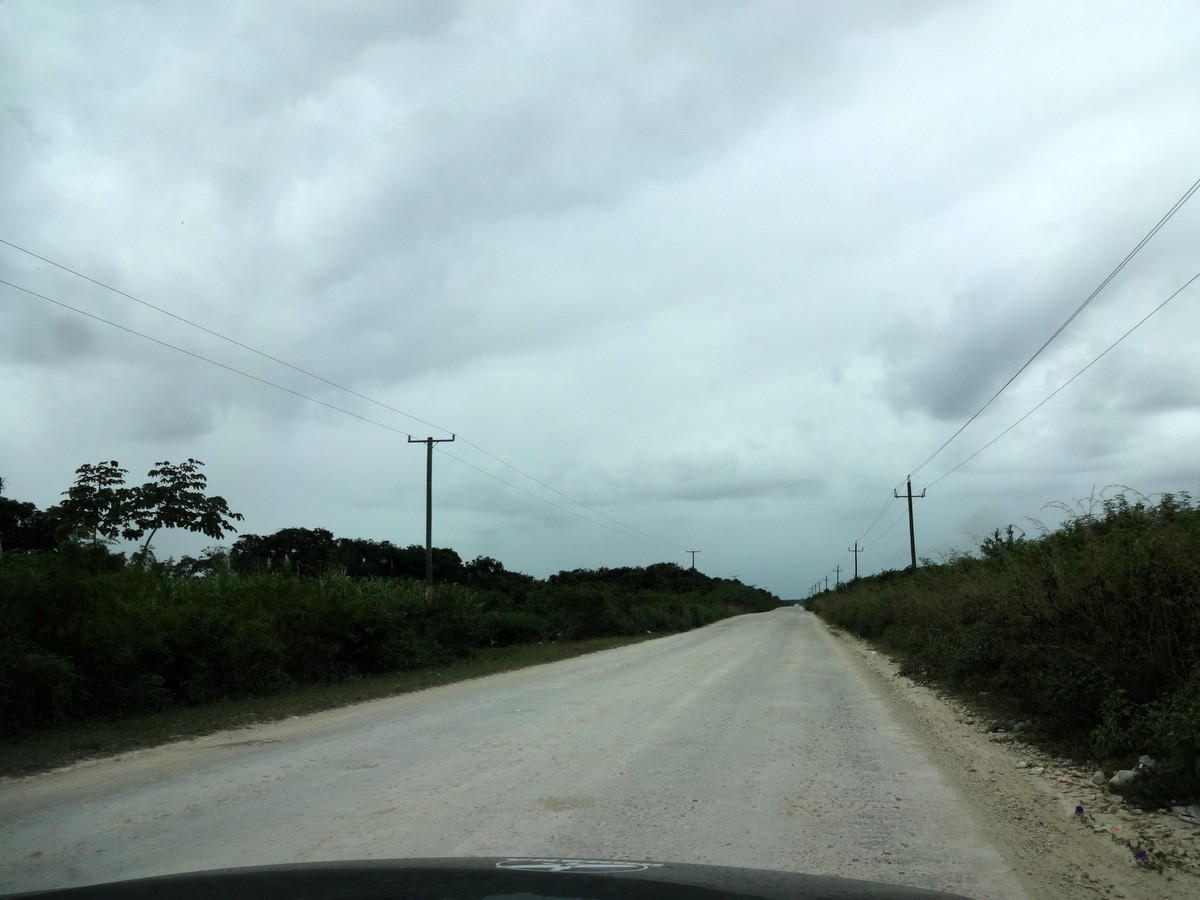 Schotterpiste in Belize