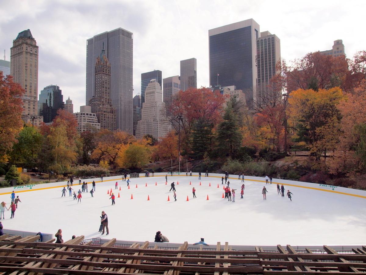 Eislaufen im Park