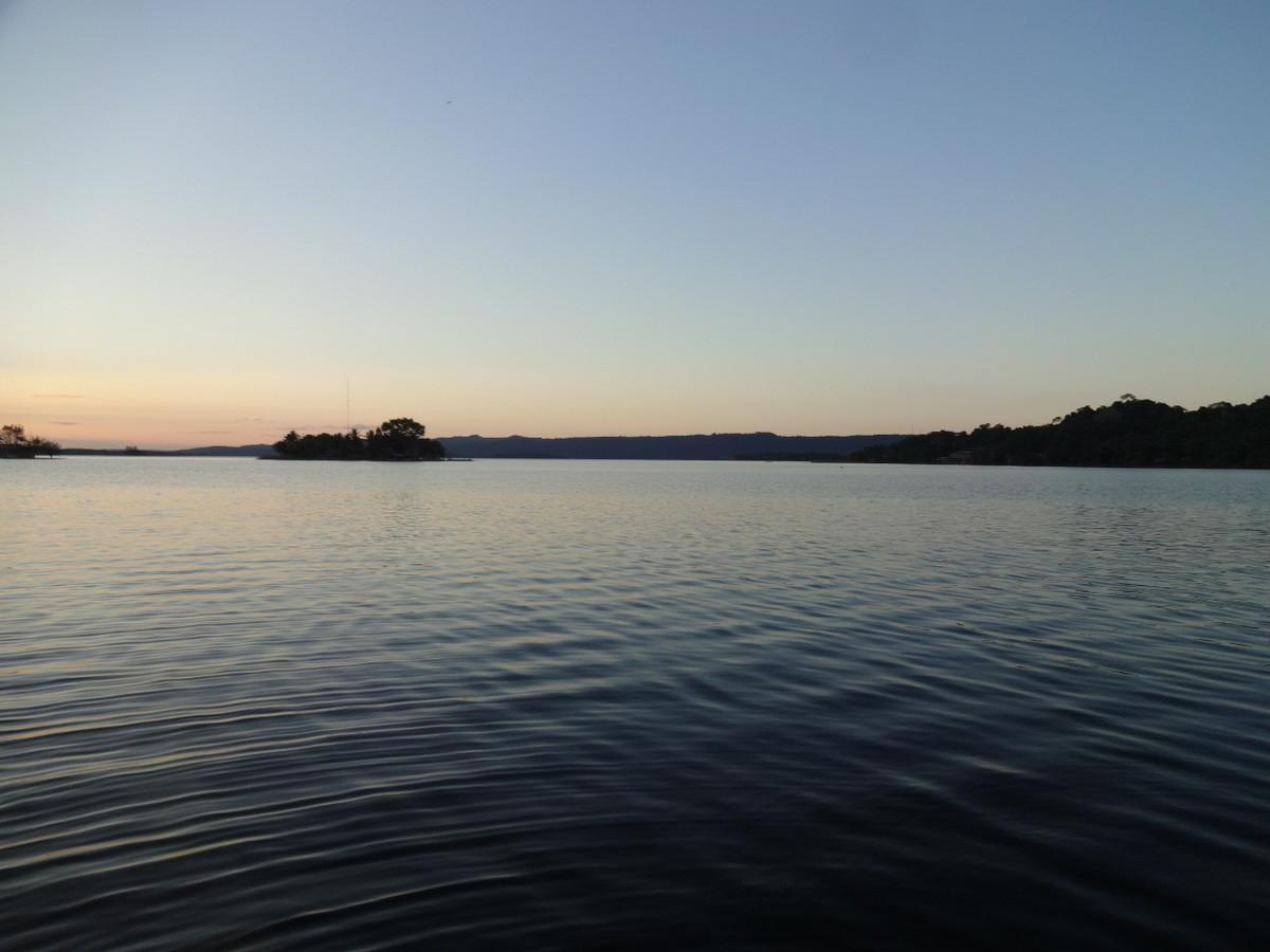 ...mit einem traumhaften Sonnenuntergang
