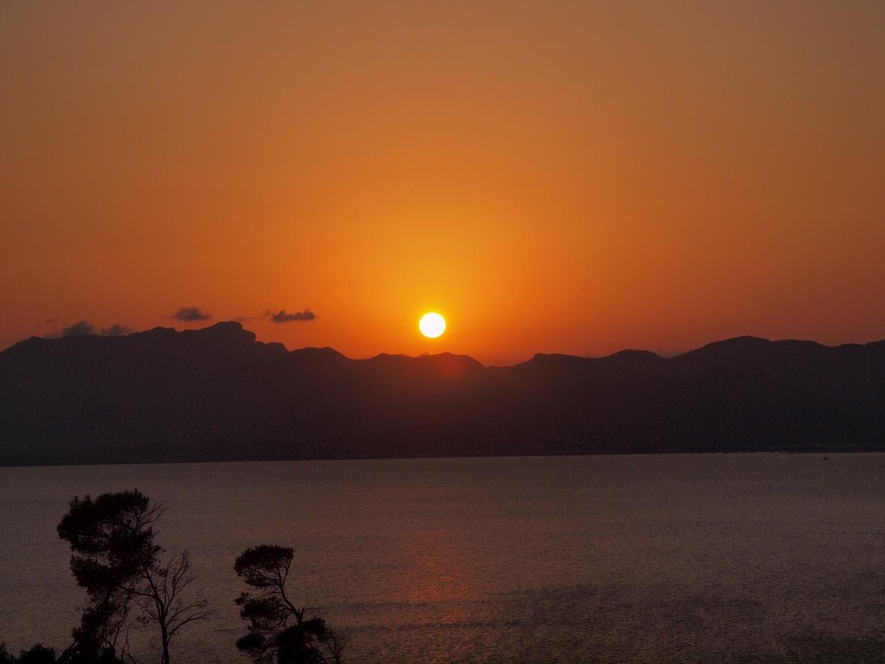 …mit Sonnenuntergang!