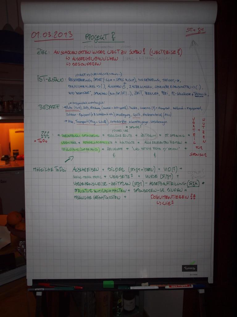 Die ersten Notizen
