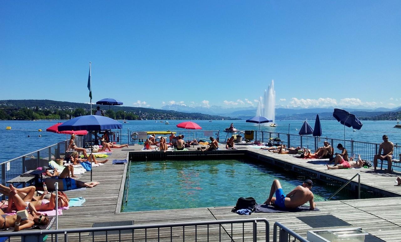 Seebad Enge, am Züricher See