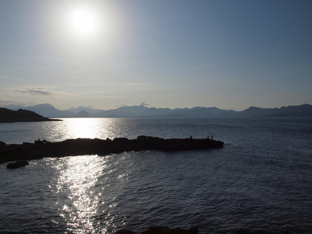 Angler im Sonnenuntergang, bei Mal Pas