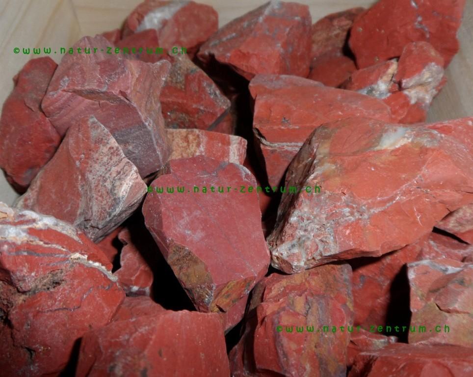 Jaspis rot in Rohform