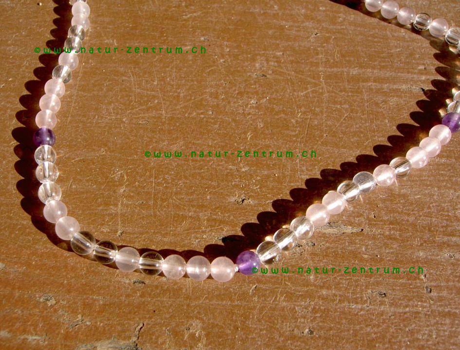 Améthyste, Cristal de roche, Quartz rose