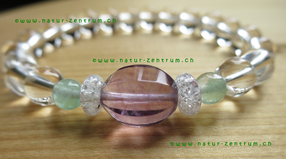 Fluorit mit Bergkristall