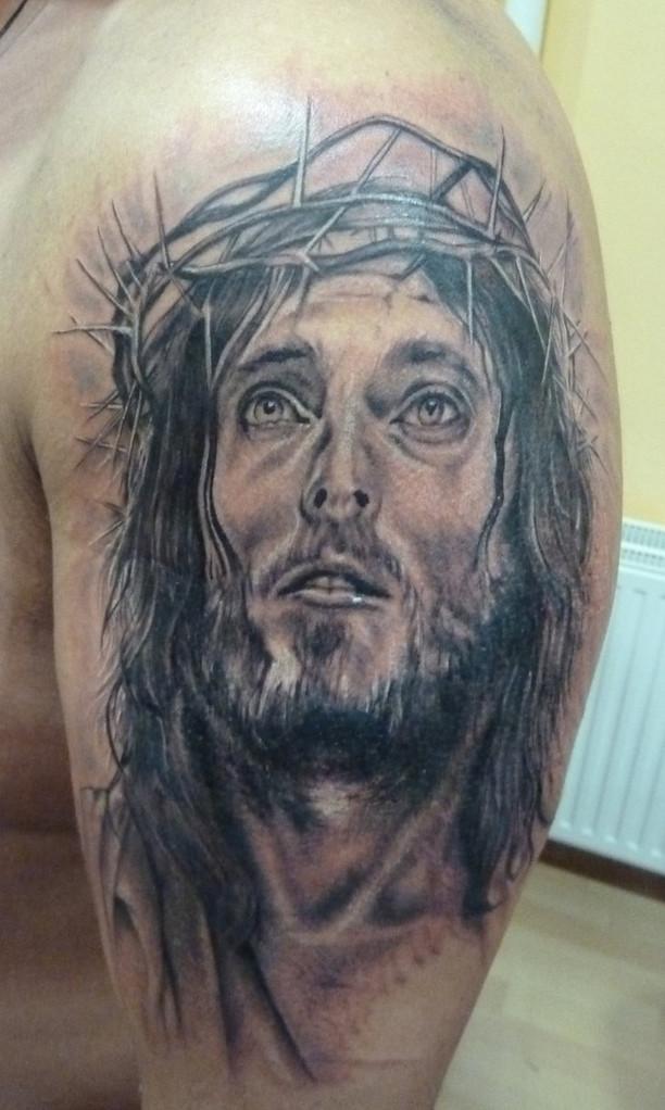 Foto: Pan Jezus - piękna tatuażowa alternatywna propozycja.