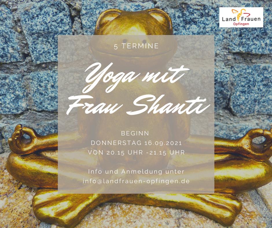 Yoga mit Frau Shanti