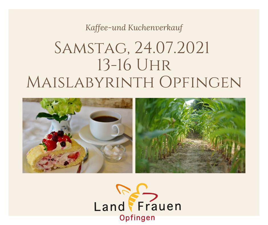 Kuchenverkauf 24.07.2021 beim Maislabyrinth Opfingen