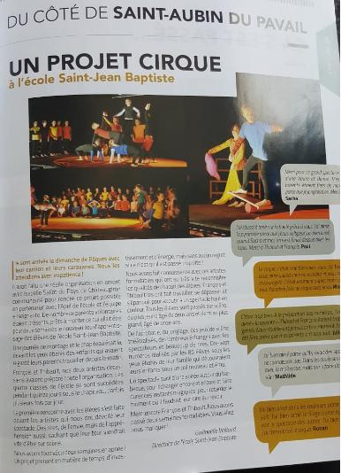 Le cirque à Saint Aubin du Pavail