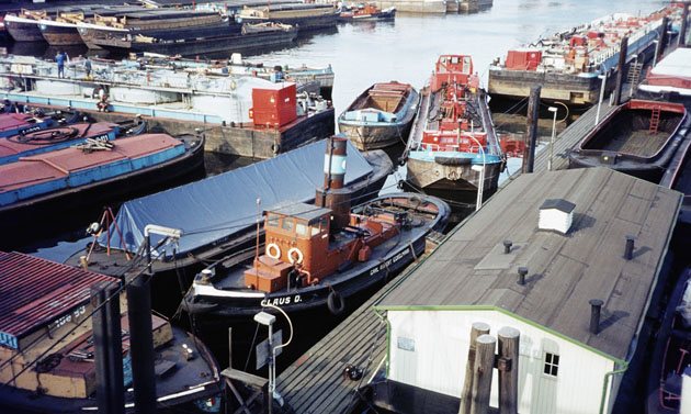 Als Auflieger im Travehafen im Oktober 1983. Foto Andreas Westphalen
