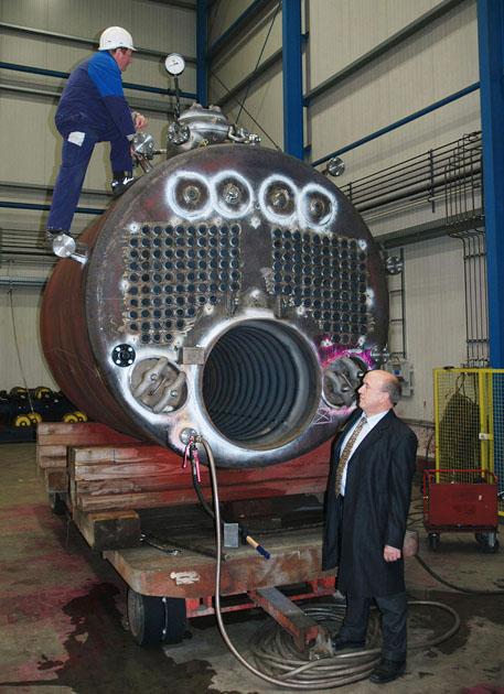 Boiler pressure test at UHLIG Rohrbogen, Nov 23rd, 2009, Foto Andreas Westphalen