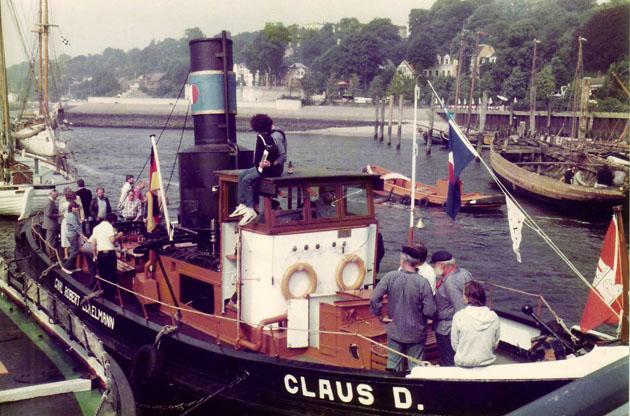 Feierliche Übergabe im Museumshafen Oevelgönne am 28.8.1984