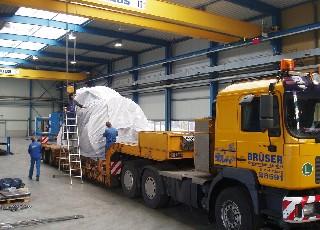 boiler oon the truck 1/3/2010. Foto Uhlig Rohrbogen