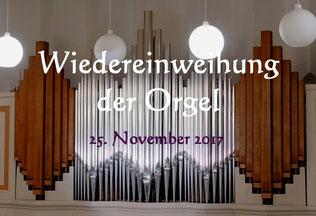 Bilder zum Konzert anlässlich der Orgelweihe