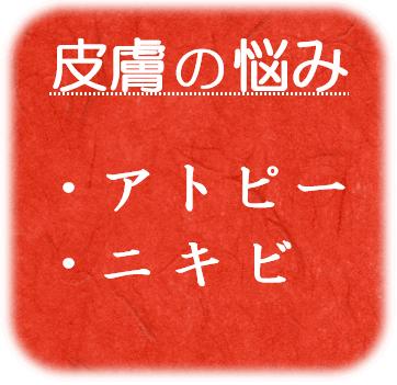 ・アトピー性皮膚炎 ・ニキビ