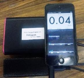 GeigerBotを使用しiPhoneで測定