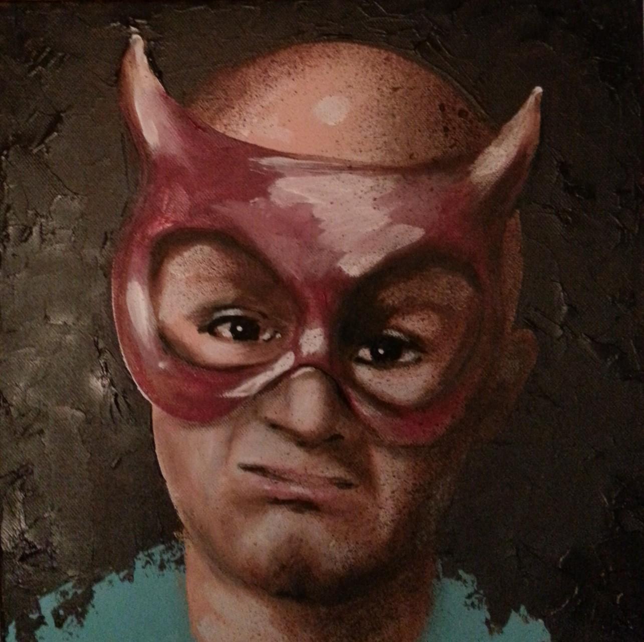 Masque rouge 30x30