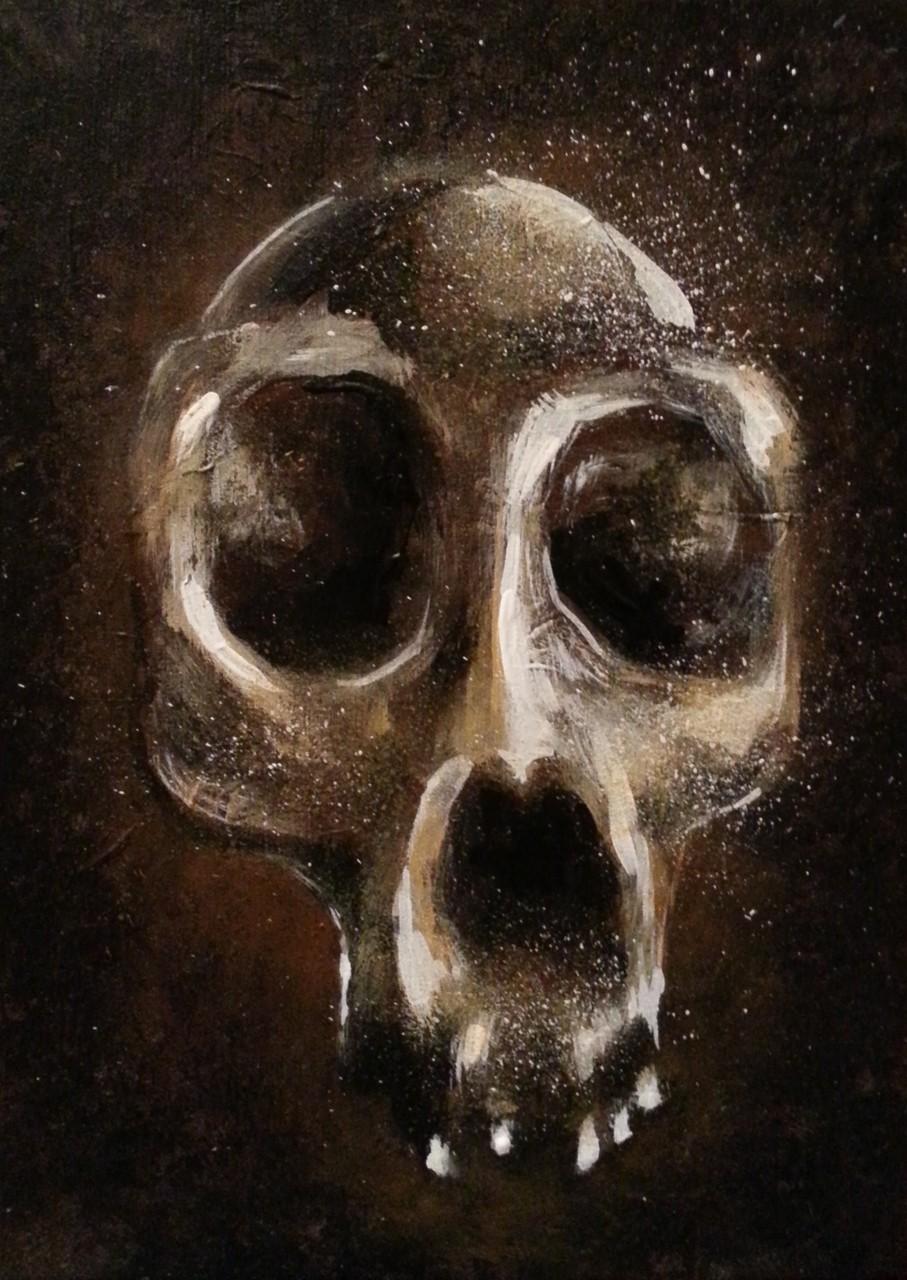 Skull 4  18x13 cm