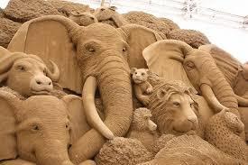 鳥取砂丘の砂像