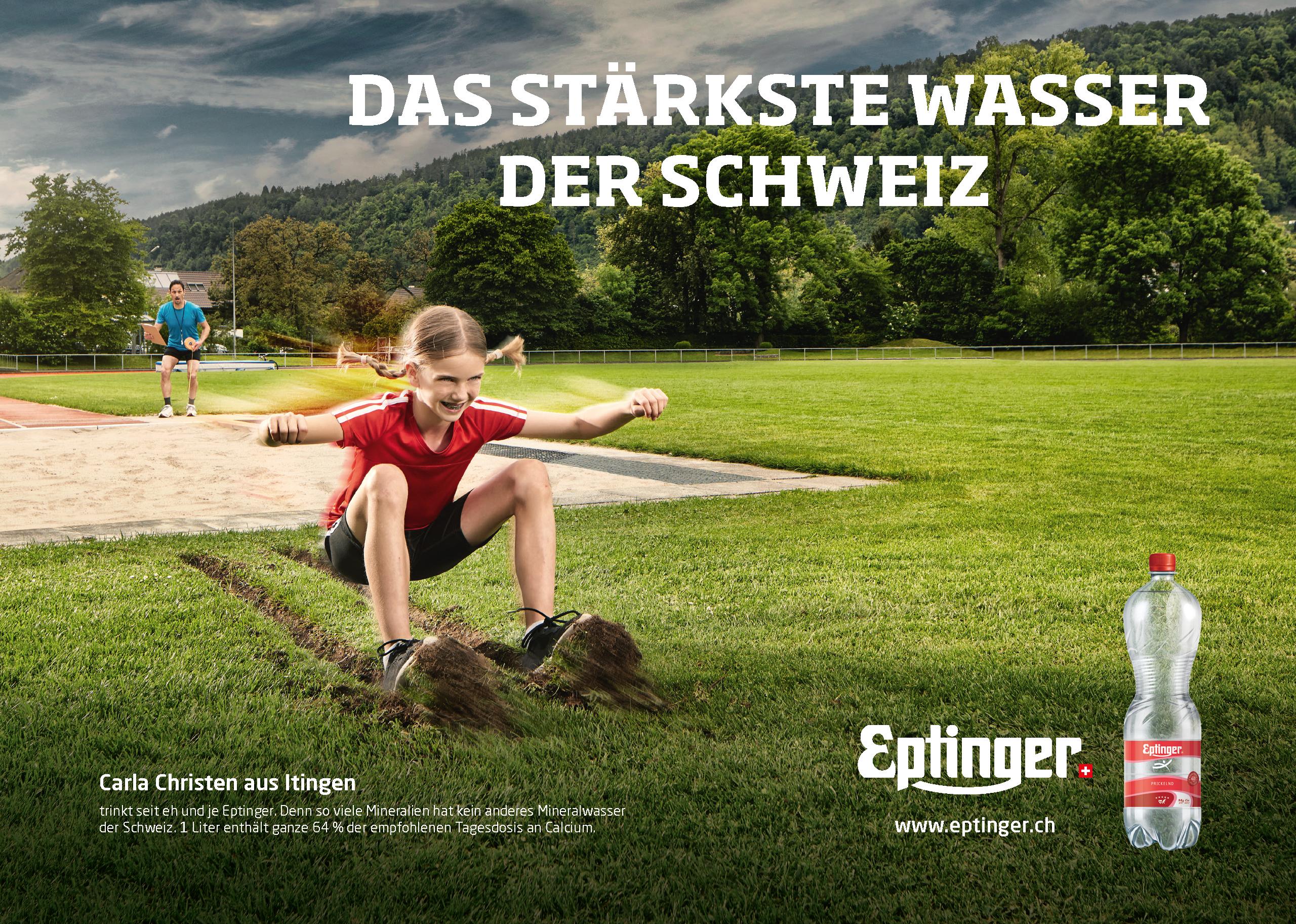 Eptinger Mineralwasser Werbung Weitsprung (2017)