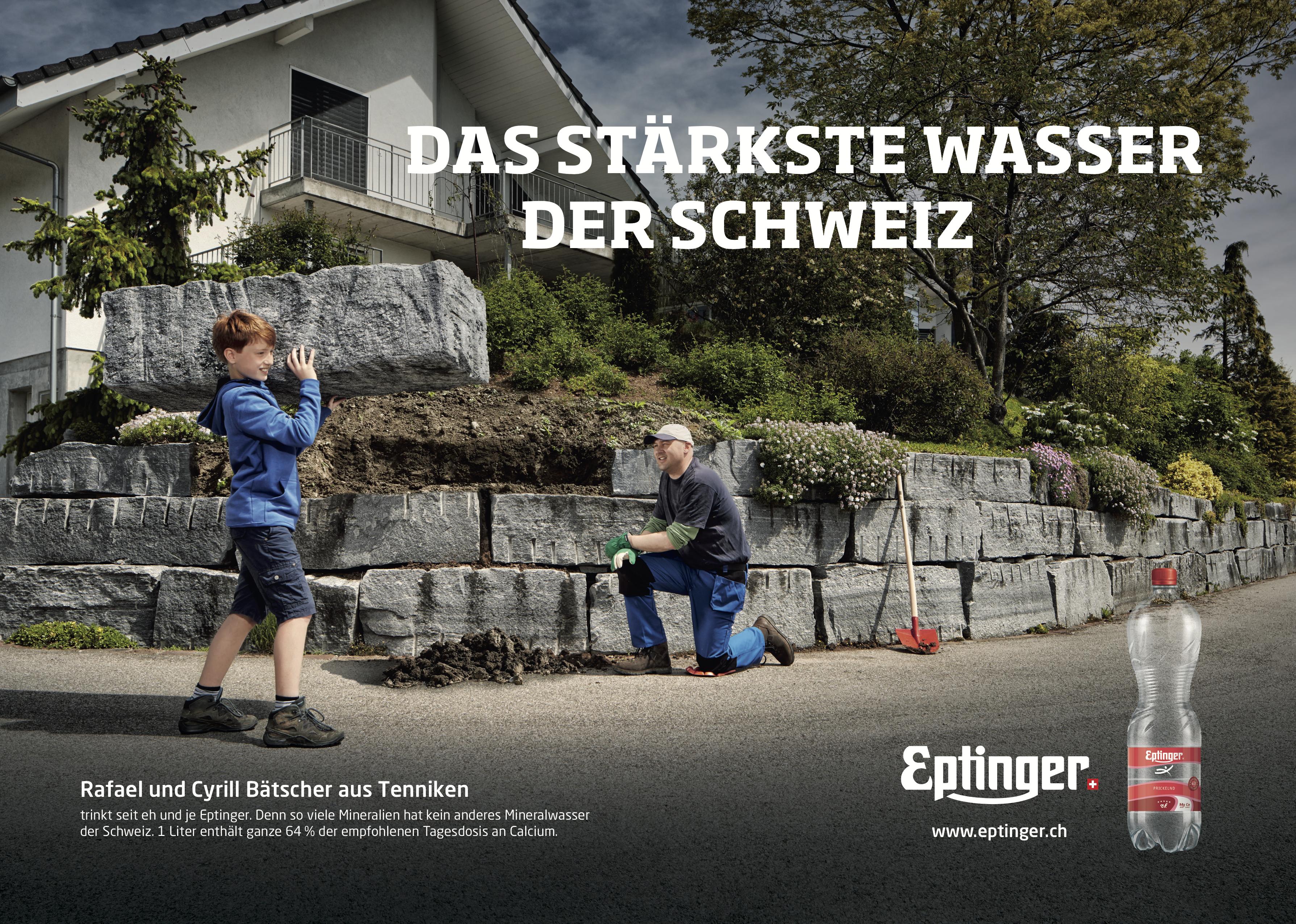 Eptinger Mineralwasser Werbung 2016 Cyrill Bätscher und Rafael Bätscher