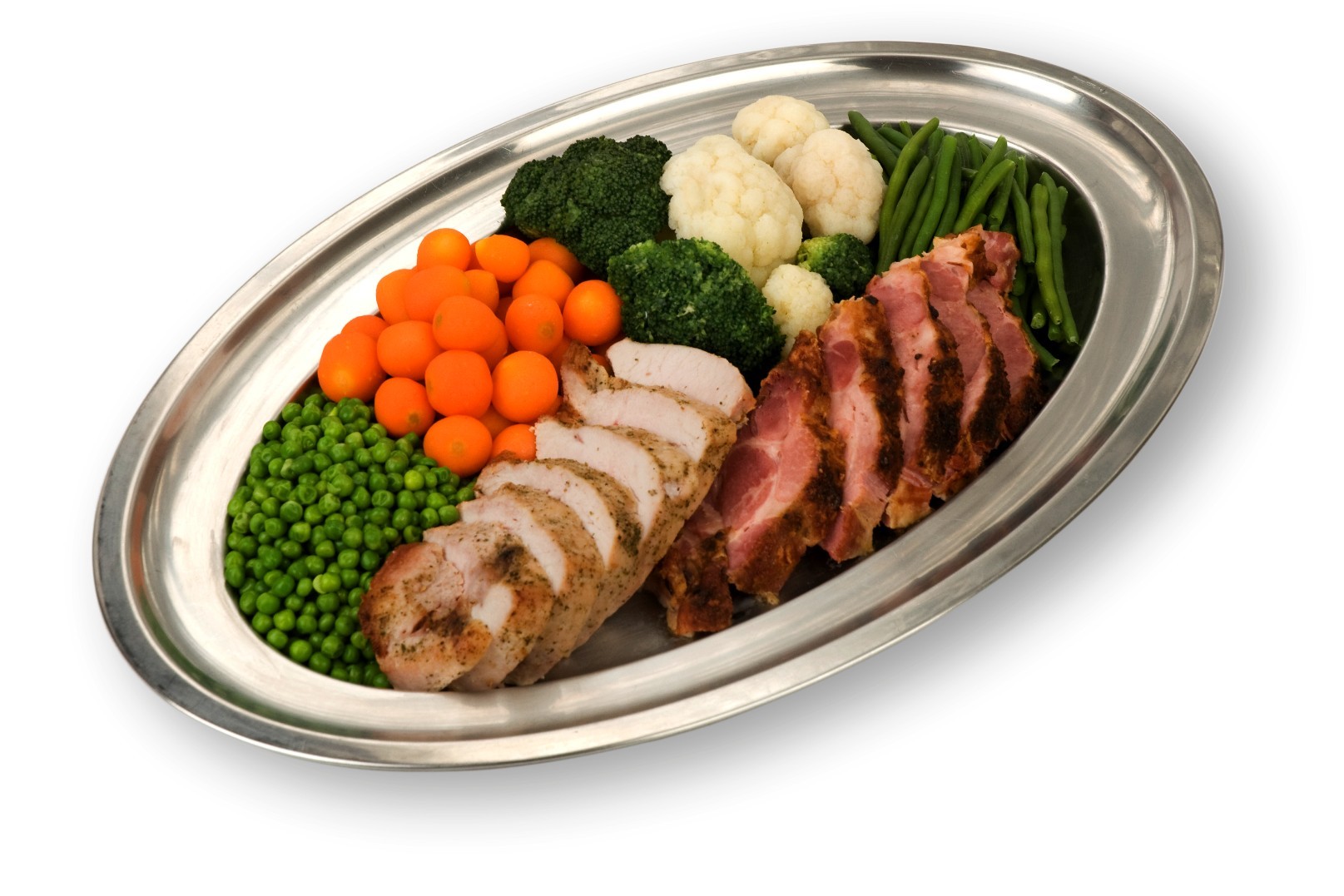 Menü-Platte Gemüse und Fleisch