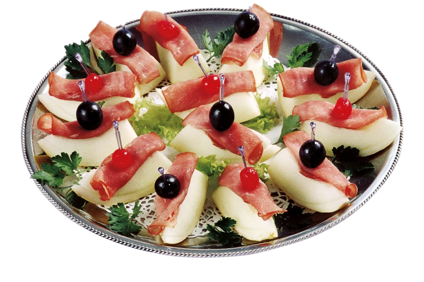 Schinken mit Melone