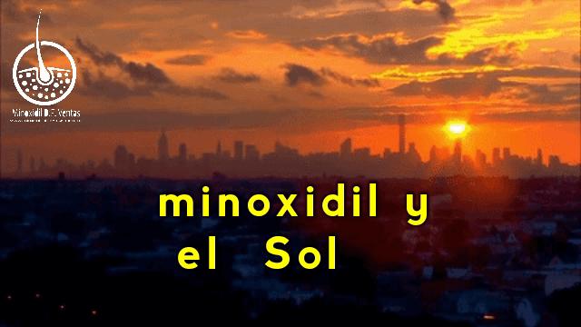 Tengo que aplicar minoxidil si tengo que tomar el sol